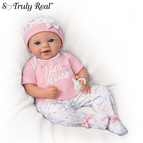 'Hello World' So Truly Real® Poseable Baby Girl Doll