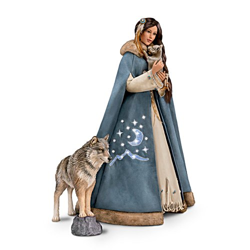 'Maiden Of The Wolf Moon' Portrait Doll