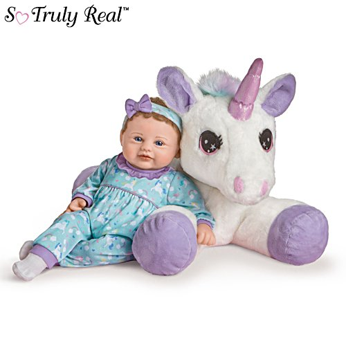 'Mia Baby Doll And Sparkle' Plush Unicorn So Truly Real® Set