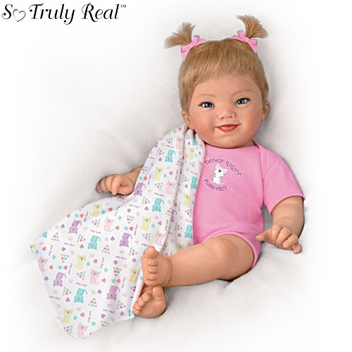 Ping Lau 'Down Right Purr-fect' Lifelike Poseable Baby Girl Doll