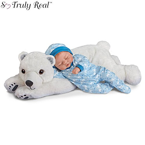 'Brayden Baby Doll & Snowball Plush Polar Bear Set'