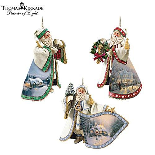 Thomas Kinkade Heirloom Santa Ornaments: Set One