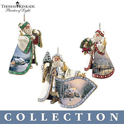 Thomas Kinkades nostalgische Weihnachtsmänner – Ornament-Kollektion