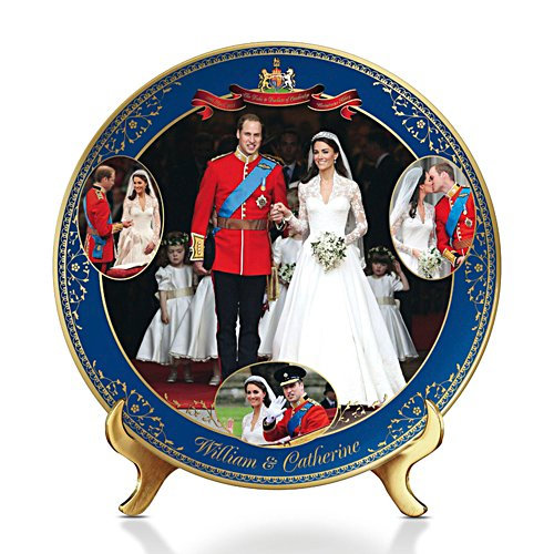 William And Catherine 'Royal Wedding' Commemorative Plate