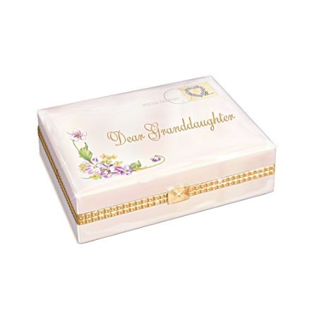 'Dear Granddaughter' Heirloom Porcelain® Music Box