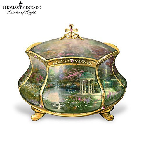Thomas Kinkade 'Garden Of Prayer' Music Box