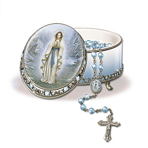 'Lady Of Lourdes' Rosary Box
