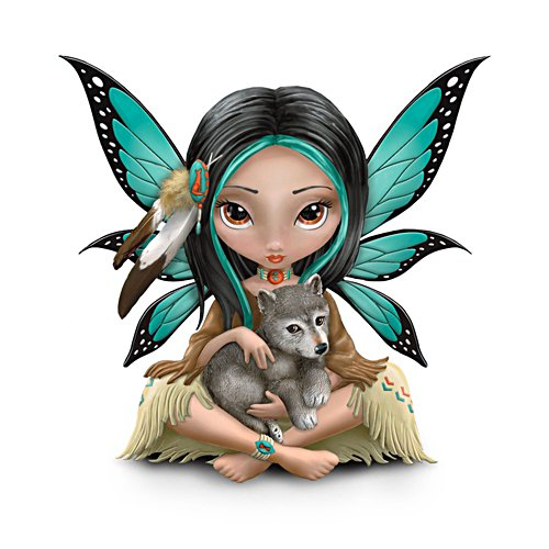 'Moonheart, The Spirit Of Strength' Fairy Wolf Figurine