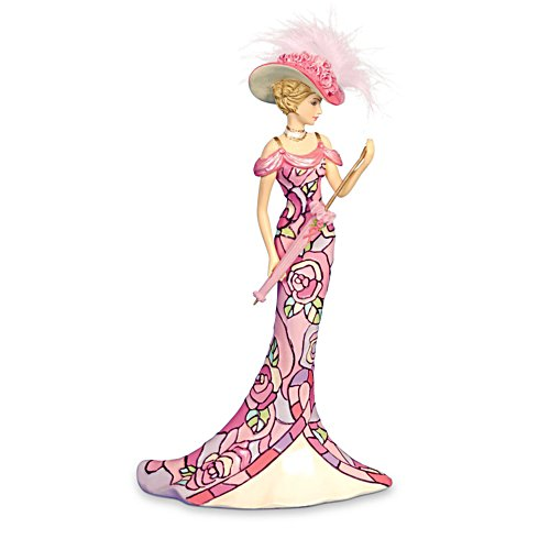 'Pink Rose Of Hope' Figurine