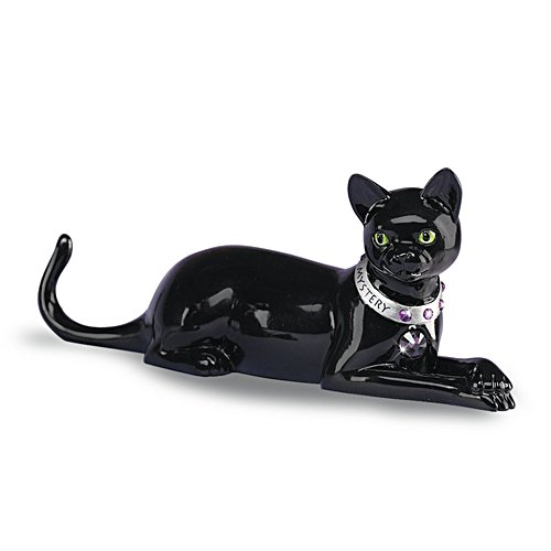 'Impressively Curious' Black Cat Sculpture