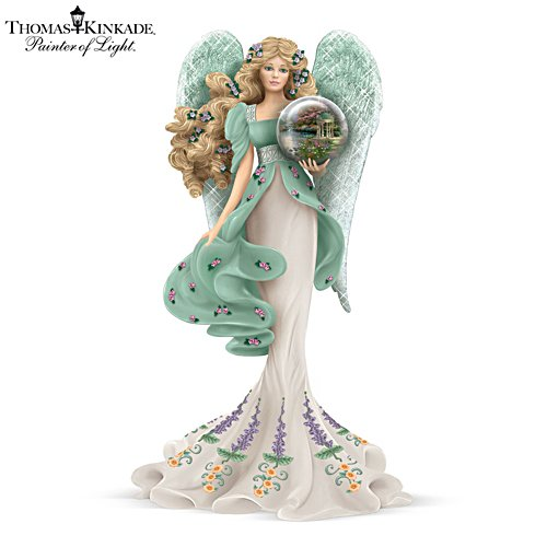 Thomas Kinkade 'Guardian Of The Garden Of Prayer' Angel Figurine