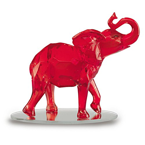 'Matriarch Of The Red' Elephant Diamond Figurine