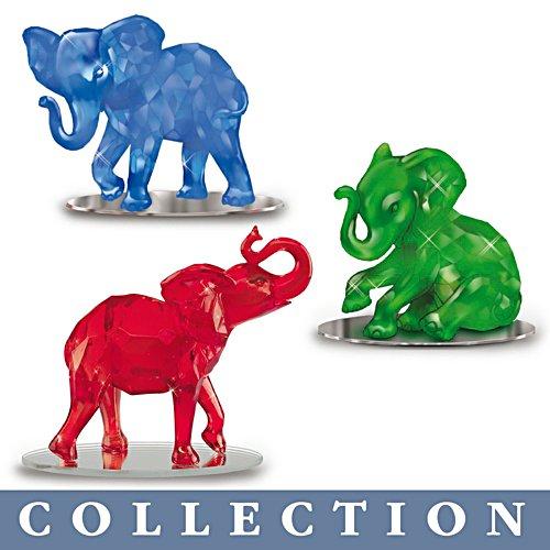 'Rarest Gem Elephants Of The World Figurine' Collection