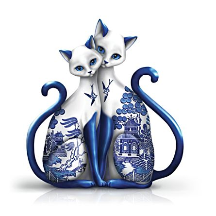 'Purr-ecious Blessing' Cat Porcelain Figurine