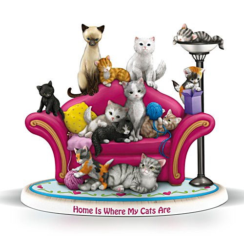 Blake Jensen 'Home Is Where My Cats Are' Figurine