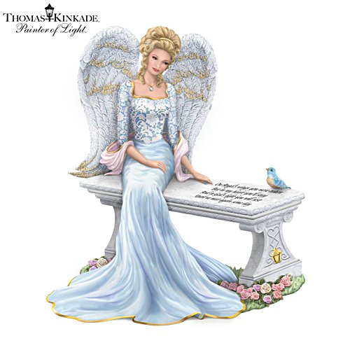 Thomas Kinkade 'Heaven's Embrace' Angel Figurine