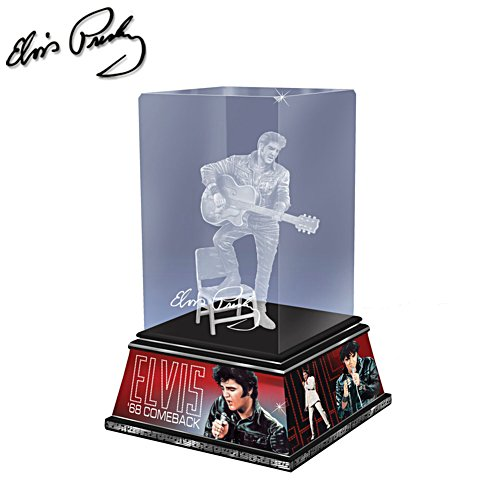 Elvis Rock 'n' Roll Legende - Elvis Presley Glasskulptur