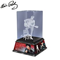 Elvis™ 'Rock And Roll Legend' Glass Sculpture