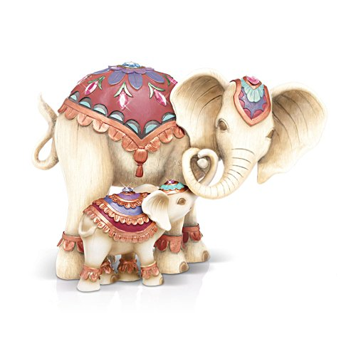 'Trunks Of Love' Mother And Child Elephant Figurine Set