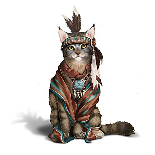 Sitting Fur' Cat Figurine