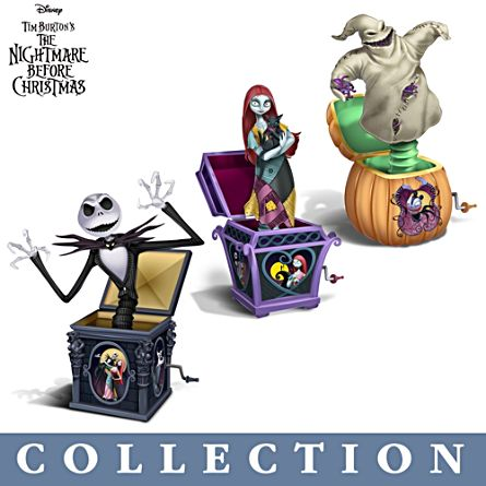 the nightmare before christmas jack in the box figurine collection