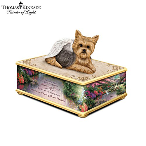 Thomas Kinkade 'Forever My Friend' Yorkie Keepsake Box
