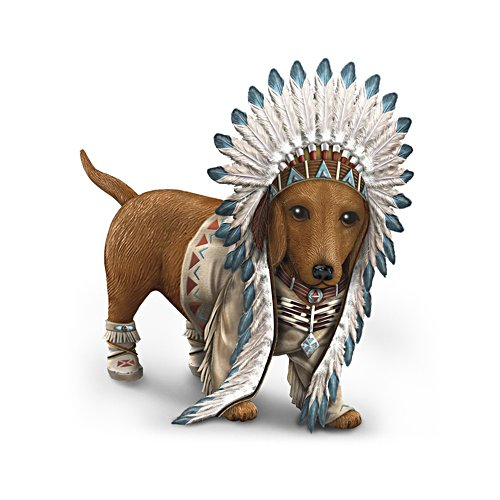 'Chief Barks A Lot' Dachshund Figurine