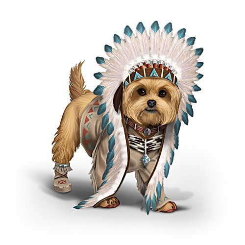 'Chief Little Paws' Yorkie Figurine