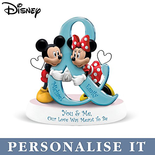 Disney 'You & Me, Our Love Was Meant To Be' Mickey & Minnie Personalised Figurine