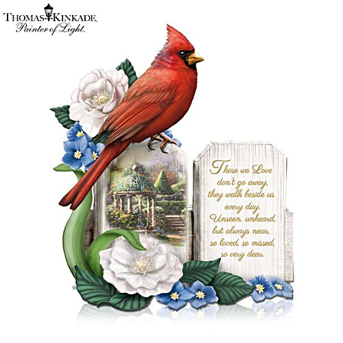 Thomas Kinkade 'A Love So Dear' Cardinal Figurine