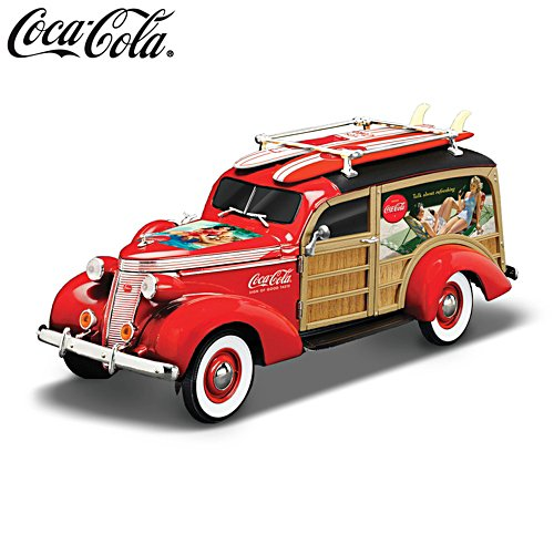 COCA-COLA® 'Cruising To Refreshment' Woody Wagon Sculpture