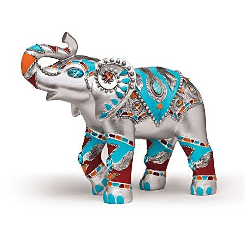 Parade in Silber – Elefantenfigurine