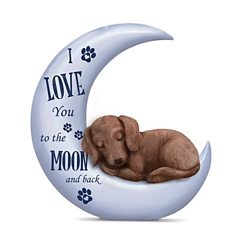 I Love You To The Moon And Back' Dachshund Figurine