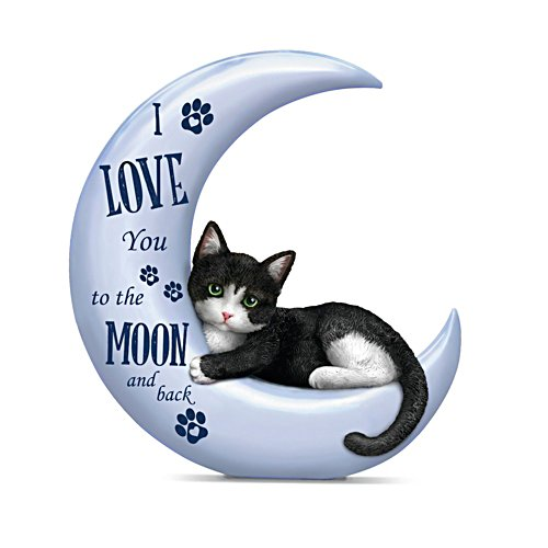 Blake Jensen 'I Love You To The Moon And Back' Cat Figurine