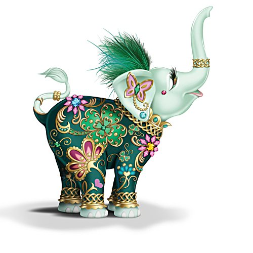 'Lucky In Love' Elephant Figurine