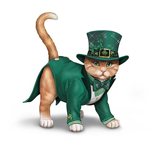 Blake Jensen 'Feline Lucky' Irish-Themed Cat Figurine