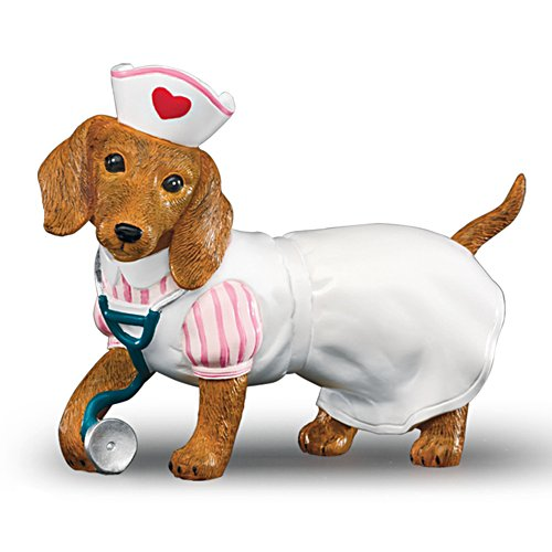 Nurses Are Su-paw Heroes' Dachshund Figurine