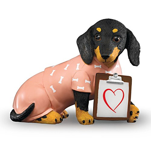 Nurses Work Furr-om The Heart' Dachshund Figurine