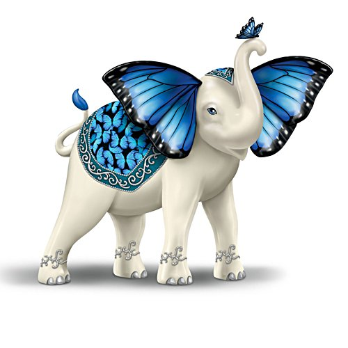 'Blue Majesty' Elephant Figurine