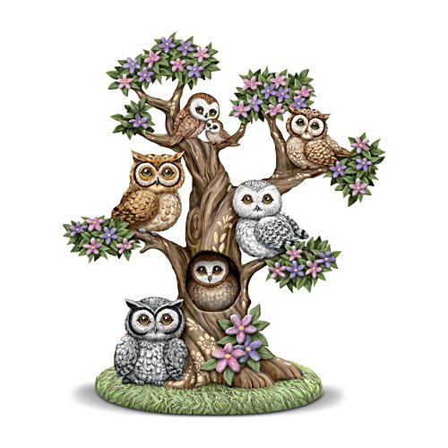 Blake Jensen 'The Gathering Tree' Owl-Themed Sculpture
