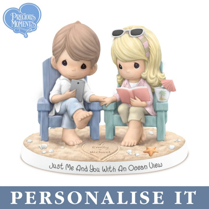 'Just Me And You With An Ocean View' Personalised Precious Moments® Figurine