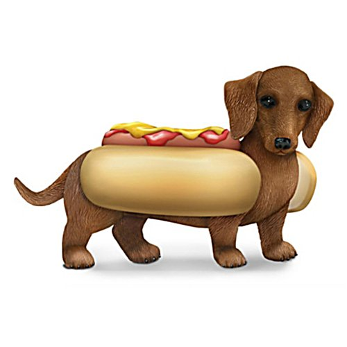 One Hot Dog' Dachshund Figurine