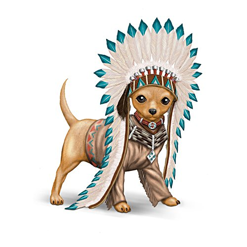 'Chief Barks A Lot' Chihuahua Figurine