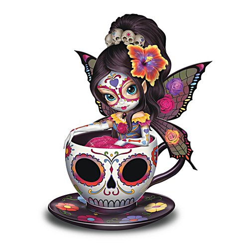 'Sweet Jasmine' Sugar Skull-Inspired Fairy Figurine