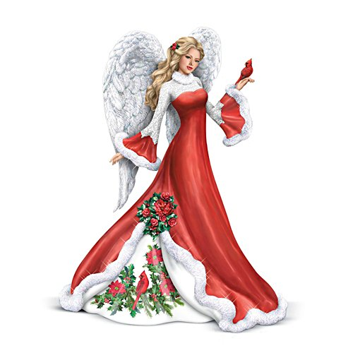 'Wintery Interlude' Angel Cardinal Figurine