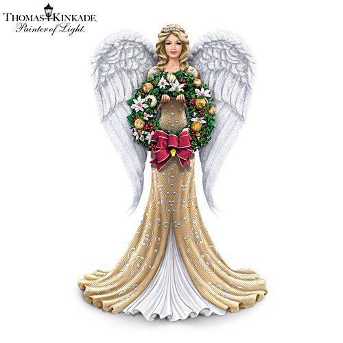 'Heavenly Light Throughout The Season' Angel Figurine