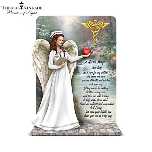 Thomas Kinkade 'Gentle & Healing Hands: The Nurse's Prayer' Angel Sculpture