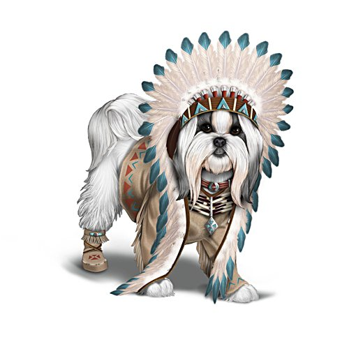 'Chief Barks A Lot Shih Tzu' Figurine