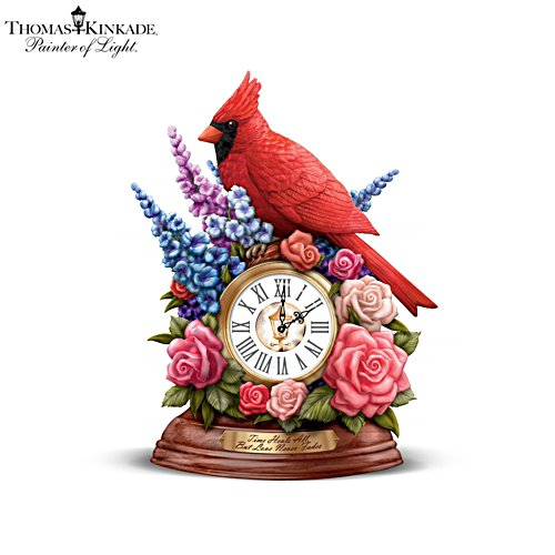 Thomas Kinkade 'Time Heals All, But Love Never Fades' Desk Clock