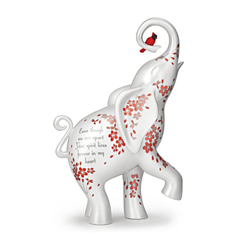 'Forever In My Heart' Elephant And Cardinal Figurine